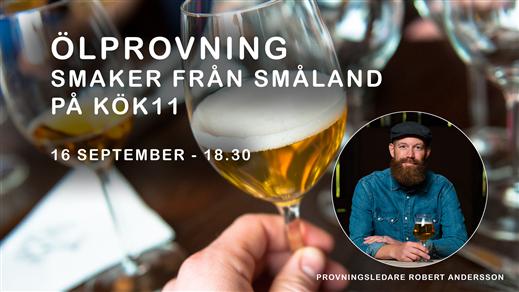 Bild för Ölprovning - Smaker från Småland hos KÖK11, 2021-09-16, Kök 11