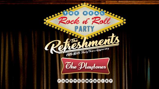 Bild för The Real R n´R Party - Refreshments & Playtones, 2019-08-24, Fågelfors Folkets Park