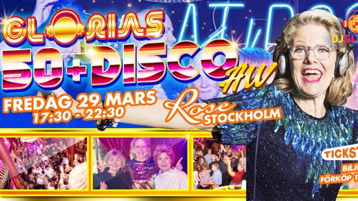 Bild för Glorias 50+ DISCO AW Stockholm 29 mars 2019, 2019-03-29, Rose Club