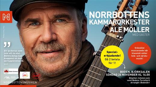 Bild för Ale Möller och Norrbottens Kammarorkester, 2017-11-26, Björknässalen