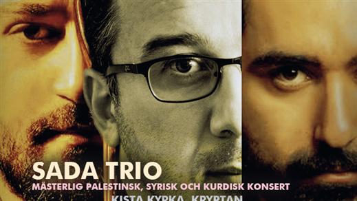 """Bild för Sada Trio """"Ett mästerlig musikalisk möte"""", 2019-09-28, Kryptan i Kista Kyrka & Kista Träff"""