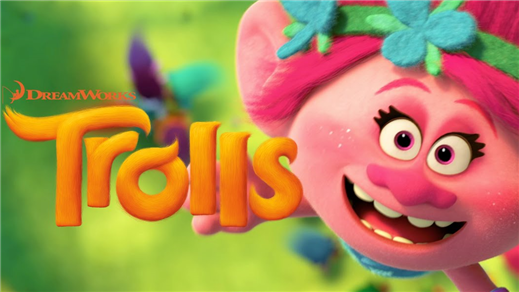 Bild för Trolls (Sal.2 7år Kl.14:15 1h32m), 2016-11-04, Saga Salong 2