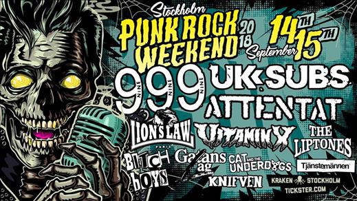 Bild för Stockholm Punk Rock Weekend - Saturday ticket, 2018-09-15, Kraken Rökerigatan 1D