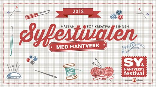 Bild för Sy & Hantverksfestivalen 2018, 2017-11-02, Svenska Mässan
