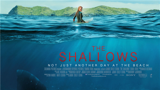Bild för The Shallows (Sal1 fr15 Kl.21:30 1h26min), 2016-09-18, Saga Salong 1