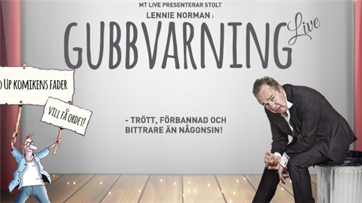 Bild för Lennie Norman – Gubbvarning Live, 2021-10-22, Falköpings Stadsteater