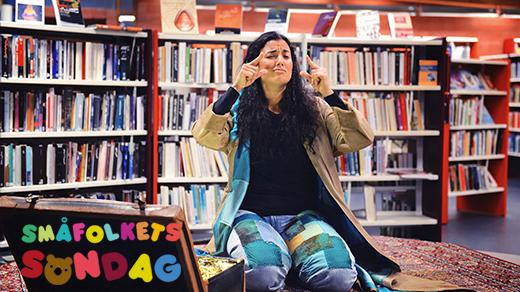 Bild för Småfolkets Söndag: Turkos sagobok (Tyst teater), 2018-11-11, Jönköpings stadsbibliotek barnavd.