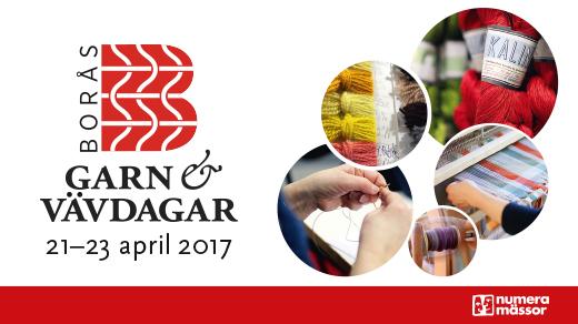Bild för Borås Garn & Vävdagar 21-23 april 2017, 2017-04-21, Åhaga Borås