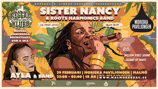 Bild för Malmö Reggae Klubb vol. 1 • Sister Nancy x AYLA •, 2020-02-29, Moriska Paviljongen
