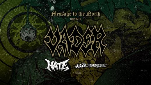 Bild för Vader + Hate + Thy Disease, 2019-09-14, Club Deströyer