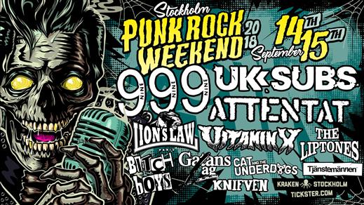 Bild för Stockholm Punk Rock Weekend - Weekend ticket, 2018-09-14, Kraken Rökerigatan 1D