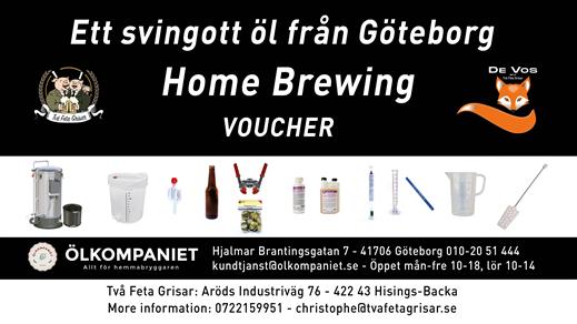 Bild för Vouchers, 2021-10-01, Två Feta Grisar Bryggeri