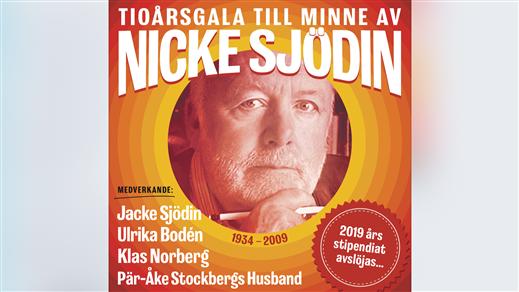 Bild för Gala till minne av Nicke Sjödin kl 15.00, 2019-04-27, Hullsta Gård | Sollefteå