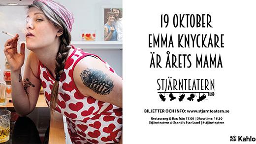 Bild för Emma Knyckare är Årets Mama, 2018-10-19, Stjärnteatern