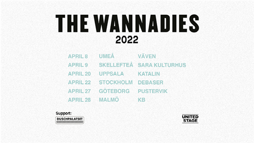 Bild för The Wannadies, 2022-04-27, Pustervik