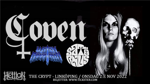Bild för COVEN / Witch Mountain / Satörnus, 2022-11-02, The Crypt LKPG
