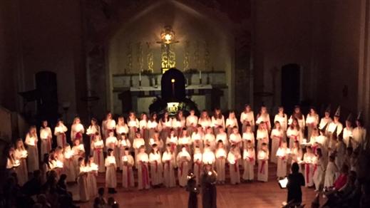 Bild för Lucia i Sofia kyrka 13/12, 2016-12-13, Sofia kyrka