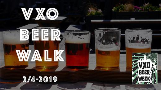 Bild för VXO Beer Walk - VXO Beer Week 2019, 2019-04-03, Bishops Arms Chapter House Izakaya Moshi Kafe Deluxe PM & Vänner Urbant Smak