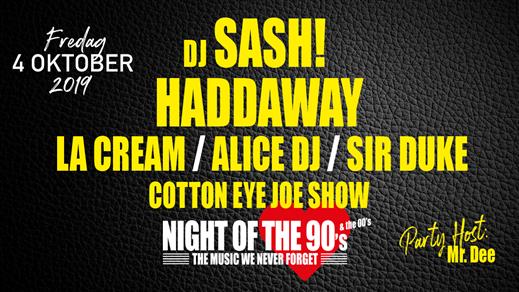 Bild för Night of the 90's & the 00's, 2019-10-04, Nöjesfabriken