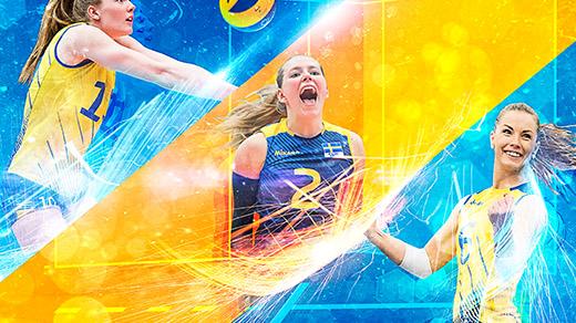 Bild för EM-kval volleyboll damer, 2018-08-19, Idrottshuset Örebro