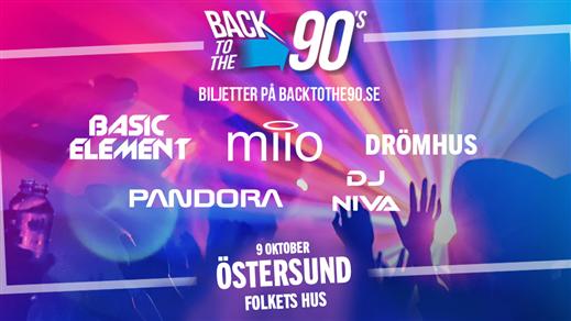 Bild för BACK TO THE 90s - Östersund, 2020-10-09, Folkets hus Östersund