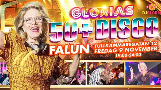 Bild för Glorias 50+ DISCO FALUN 9 nov 2018, 2018-11-09, Kulturföreningen Magasinet