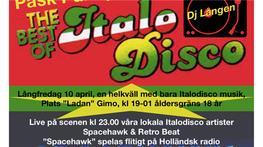 Bild för The Best Of Italo Disco, 2020-04-10, Ladan