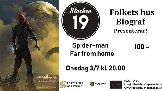 Bild för Spider-Man: Far from Home, 2019-07-03, Biosalongen Folkets Hus