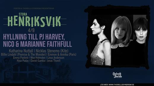 Bild för Hyllning till PJ Harvey, Nico & Marianne Faithfull, 2021-09-04, Stora Henriksvik