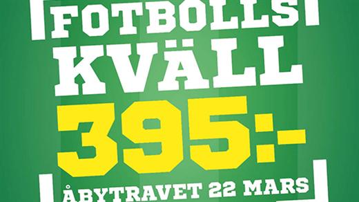 Bild för Fotbollskväll, 2018-03-22, Åby travbana