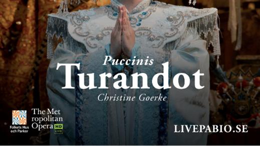 Bild för Turandot - digital sändning från Metropolitan, 2019-10-13, Folkets Hus Motala Teatersalongen
