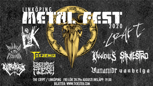 Bild för Linköping Metal Fest 2020 - Weekend, 2020-08-28, The Crypt LKPG