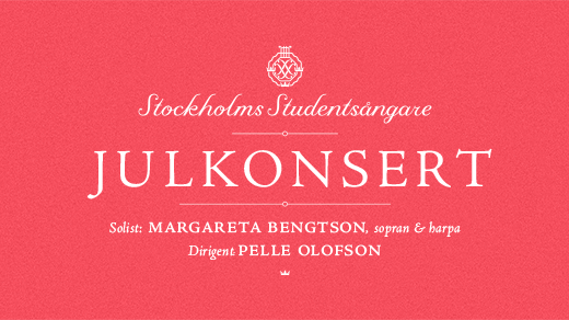 Bild för Julkonsert m Stockholms Studentsångare 17/12 kl 20, 2018-12-17, Adolf Fredriks kyrka