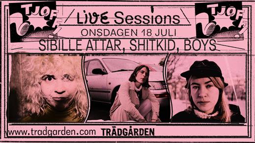 Bild för Live sessions: Sibille Attar, Shitkid,  Boys, 2018-07-18, Trädgården