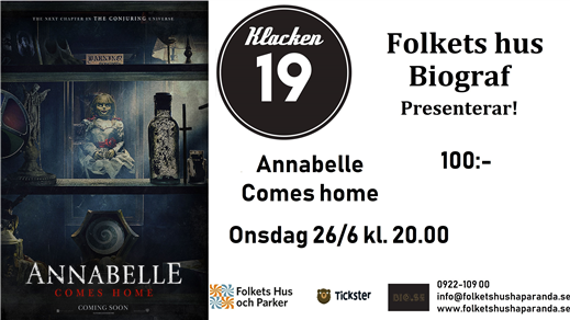 Bild för Annabelle Comes Home, 2019-06-26, Biosalongen Folkets Hus