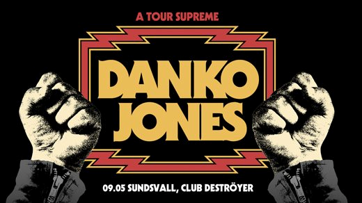 Bild för Danko Jones + Bombus, 2021-10-01, Club Deströyer
