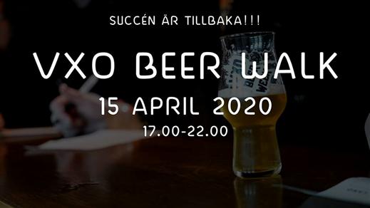 Bild för VXO Beer Walk - 15 april 2020, 2020-04-15, VXO BEER WALK