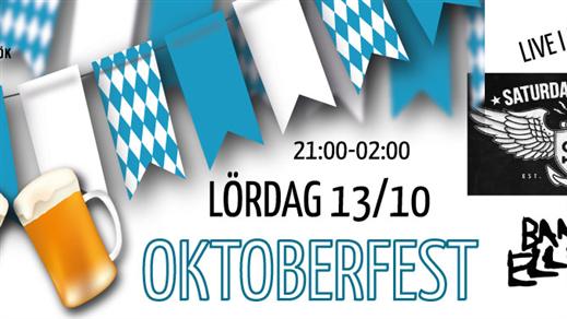 Bild för Oktoberfest + Saturday's Heroes - 13/10, 2018-10-13, Hugo Finspång