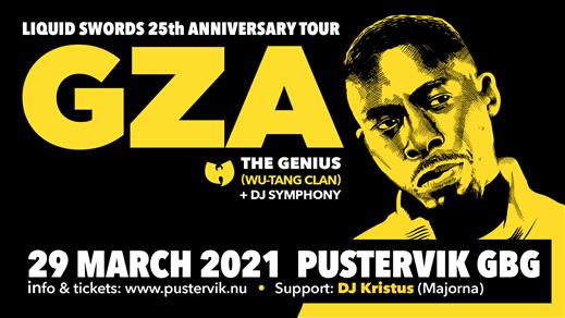 Bild för GZA/The Genius (Wu-Tang Clan), 2021-03-29, Pustervik