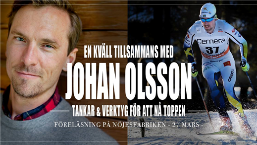 Bild för Föreläsning med skidlegenden Johan Olsson, 2019-03-27, Mässhallen
