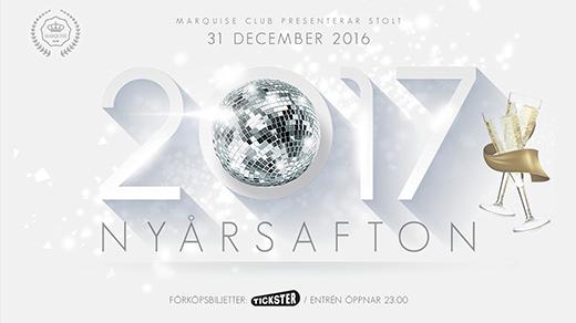 Bild för NYÅRSAFTON 2016/2017 PÅ MARQUISE CLUB, 2016-12-31, Marquise
