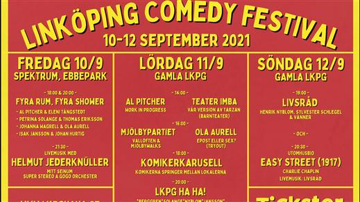 Bild för Linköping Comedy Festival 2021, 2021-09-10, Linköping Comedy Festival