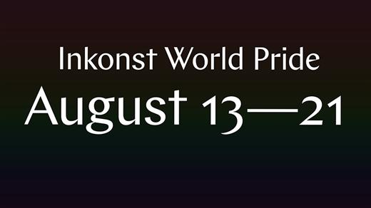 Bild för Inkonst <3 WorldPride, 2021-08-13, Inkonst onumrerat
