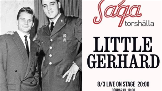 Bild för Live on Stage: Legenden Little Gerhard, 2019-03-08, Saga Salongen Torshälla