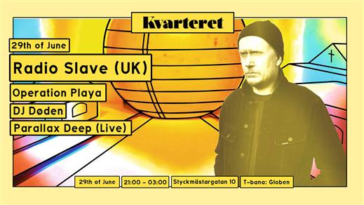 Bild för Radio Slave w/Parallax Deep(Live)/Dj Døden +more, 2019-06-29, Slaktkyrkan