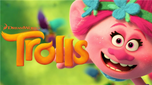 Bild för Trolls (Sal.3  7år Kl.16:00 1h32m), 2016-11-20, Saga Salong 3