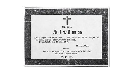 Bild för Min kära, Alvina, 2021-10-18, Sara Kulturhus Scen 4