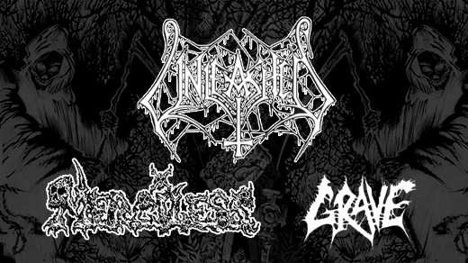 Bild för Unleashed + Merciless + Grave, 2017-09-15, En Arena