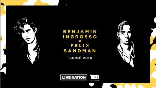 Bild för Benjamin Ingrosso x Felix Sandman, 2018-11-03, Jönköpings Konserthus Elmia #2