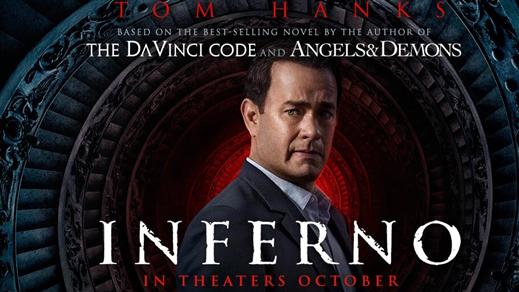 Bild för Inferno (Sal.2 15 år Kl.20:15 2h 01m), 2016-10-25, Saga Salong 2